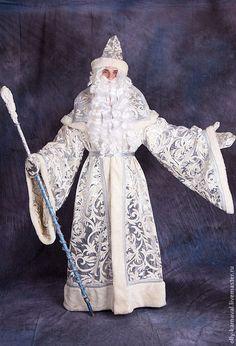 Купить Костюм Деда Мороза - серебряный, дед мороз, Новый Год, парча, велюр #new #years #ДедМороз #Снегурочка #costume #cosplay