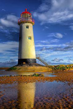 ✮ Abandoned lighthouse at Talacre Beach, Flintshire, North Wales, UK