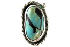 Navajo Carlin Mine Turquoise Ring