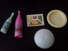 BARBIE PICCOLO LOTTO ACCESSORI CUCINA FRIGORIFERO LIVING PRETTY VINTAGE