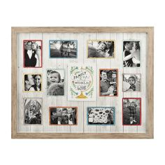 Show off your 'Little World in a Wooden Collage Frame' for the holidays! Share photos of the most important people in your life in one beautiful frame. The wooden panel background and multicolor photo settings are the perfect highlight for your memories.