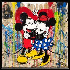 Mr Brainwash Bansky Oil Painting on Canvas Graffiti art Mickey & Minnie Mouse by uniqueartdesings on Etsy Mr Brainwash, Graffiti Art, Arte Pop, Mouse Paint, Art Disney, Collage, Mickey Minnie Mouse, Banksy, Urban Art