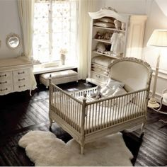 a bit much but very adorable! Country chic baby room
