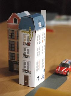 Free printable paper house #Paper #Kids #Play #Toys