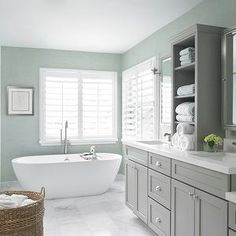 Gray and Green Bathrooms, Contemporary, bathroom, Krista Watterworth Design Studio
