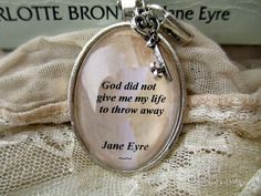 Most memorable quotes from Jane Eyre, a Book based on Novel. Find important Jane Eyre Quotes from book. Jane Eyre Quotes about romantic an. Charlotte Bronte Quote, Jane Eyre Quotes, Charlotte Brontë, Jewelry Quotes, Literary Quotes, Book Quotes, Film Quotes, Jane Austen, Beautiful Words