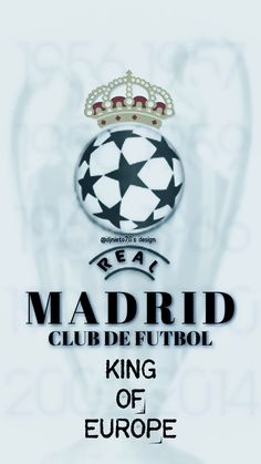 logo Rey de Europa Real Madrid History, Real Madrid Photos, Real Madrid Logo, Real Madrid Club, Real Madrid Football Club, Real Madrid Players, Football Names, Football Pictures, Real Mardid