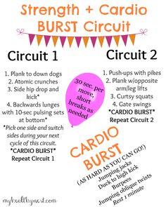 25-min bodyweight workout featuring 2-min cardio BURSTS!
