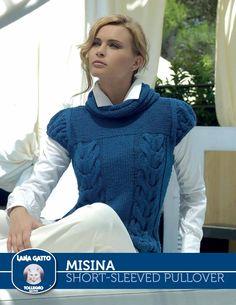 Misina – Short-sleeved Pullover - free - Knitting Fever Yarns & Euro Yarns