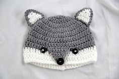 Whats better than a cute kid in an adorable animal beanie? Not much! These wolf hats are carefully crocheted with gray and white soft yarn (100%