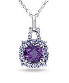 Sterling silver / diamond / amethyst