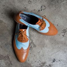 a224c1cd8fd Brown and blue oxford shoes by Goodbye Folk