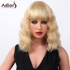 Shaggy Curly Long Adiors Stylish Full Bang Capless Real Human Hair Wig For Women #>=#>=#>=#>=#> Click on the pin to check out discount price, color, size, shipping, etc. Save and like it!