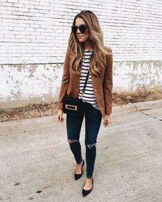 easily my favorite blazer...❤️ http://liketk.it/2pt9a @liketoknow.it #liketkit #blazer #stripes