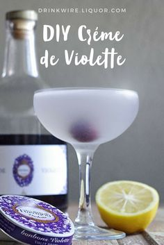 Crème de Violette can be difficult to find, which can be a huge problem if you're a fan of the Aviation The solution? A recipe! Grab some and cognac because here's your guide to make the Homemade spirit along with the cocktail! Brandy Cocktails, Vodka Cocktails, Classic Cocktails, Fun Drinks, Alcoholic Drinks, Party Drinks, Beverages, Best Cocktail Recipes, Drink Recipes