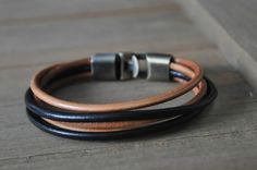 Leather Bronze Bracelets for Men Leather Bracelets, Bracelets For Men, Gifts For Surfers, Bracelet Making, Retro Vintage, Bronze, Ebay, Black, Things To Sell