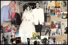 25th Wedding Anniversary Gift Ideas for Mom and Dad - photo collage