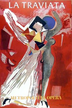 La traviata - Giuseppe Verdi - poster for the Metropolitan Opera