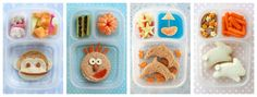 """This is a great idea for lunches, probably more for the younger kids.  I'm thinking in 4th grade if your sandwhich looks like a bunny....that might be a bad thing.  However, creating something like these aawesome lunches would be a true labor of love.  Not sure I need to add """"lunch making"""" as my next creative endeavor."""