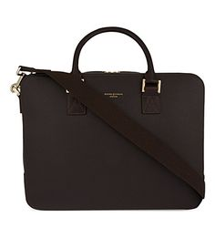 Designer Clothes, Shoes & Bags for Women Calf Leather, Leather Bag, Work Bags, Aspinal Of London, Brown Bags, Zipper Bags, Fashion Bags, Men's Fashion, Calves