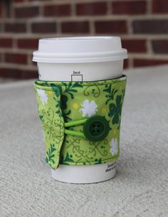 St Patricks Day Coffee Cup Cozy / Irish Mug Koozie  by ckstitches