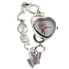 New Shiny Silver Band Round PNP Shiny Silver Watchcase Children Watch KW063D