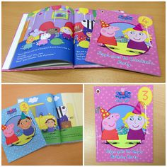 Peppa Pig Party Idea - #Personalised Peppa Pig book-- Audi would love!!