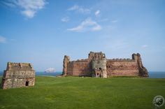 The view of Tantallon Castle