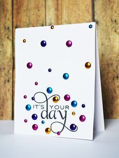 clean and simple birthday card - Recherche Google