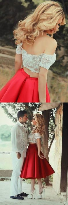 homecoming dress,two-piece homecoming dress,red homecoming dress,cheap homecoming dress,prom dress,short prom dress,party dress,red party dress