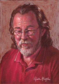 self-portrait 21x30 pastel.