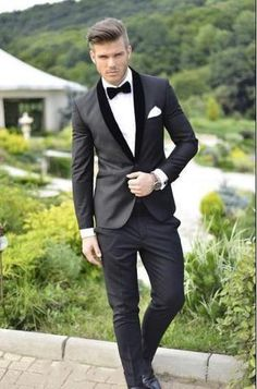 Custom Made Groom Tuxedos Notched Lapel Men's Wedding Suits