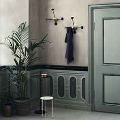 The Matégot Coat Rack by GUBI is an equally functional and beautiful coat hanger. Uniquely modern and organic, the thin arms of the rack are in contrast to the brass center. Use in your entryway to inspire in a small footprint. Thin Arms, Coat Hanger, Deco Design, Everyday Objects, Messing, Contemporary Design, Tall Cabinet Storage, Wall Decor, Entryway Decor