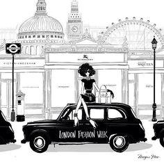 London Fashion Week by Megan Hess Illustration #LFW