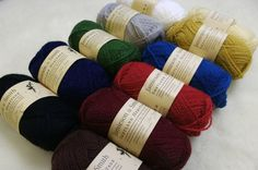 All Shades of Jamieson & Smith Heritage yarn.