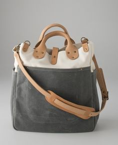 Canvas & Leather Utility Tote