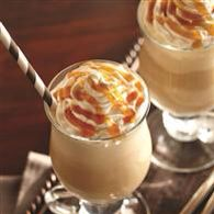 *IDEAL PROTEIN CARAMEL SHAKE* This isn't my pic but my drink wasn't as pretty. Blend 1 Ideal Protein Ready Made Vanilla Drink, 1 Tbsp Walden Farms Caramel Syrup, 1/2 tsp pure vanilla extract, 1/2 tsp raw Stevia artificial sweetener, 1/4 tsp cinnamon and some ice in a blender. It's so good.
