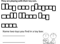 Students will read a sentence that focuses on key kindergarten and first grade sight words.  They will then rewrite the sentence in the shape boxes provided.  Students will also be asked a question that has them list answers.