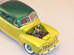 By David Dale. Revell '48 Ford Convertible kit with the Galaxie Chevy Aerosedan kit to make a '48 Ford Aerosedan. Paint is House of Color. Front custom grill is from the old IMC'48 Ford kit.