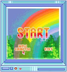 I draw pixels & things Rainbow Aesthetic, Aesthetic Gif, Aesthetic Videos, Aesthetic Backgrounds, Pink Aesthetic, Aesthetic Wallpapers, Gifs, Overlays Picsart, Indie Kids
