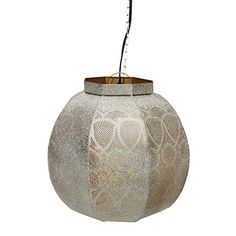 "14"" Distressed White and Gold Moroccan Style Cut-Out Hanging Lantern Pendant Ceiling Light Fixture Northlight http://www.amazon.com/dp/B012X4RWYC/ref=cm_sw_r_pi_dp_mO9xwb1RAH01N"