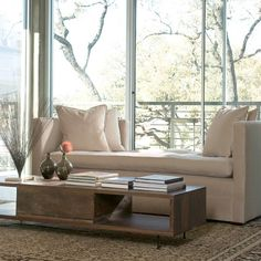 chaise and large windows