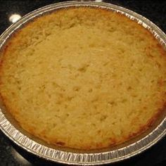 Best Ever Coconut Pie (Coconut Custard) on BigOven: This is my grandma's recipe and my husband loves it so much that he named it, Best Ever Coconut Pie.