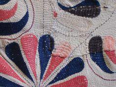 detail • bengali kantha quilt • via sri threads