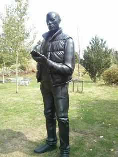 Or this? Walk The Line, Olympics, Garden Sculpture, Walking, Outdoor Decor, Leather, Walks, Hiking