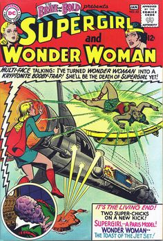 Super girl and Wonder Woman - The Brave and the Bold #63 (1966) - Cover byJim Mooney