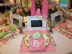 pink tea -birthday party  (from Idlewild Baptist Holiday Tables 2011)