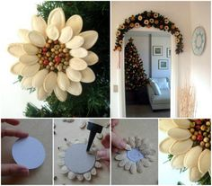 How to DIY Pumpkin Seed Flower Christmas Ornament