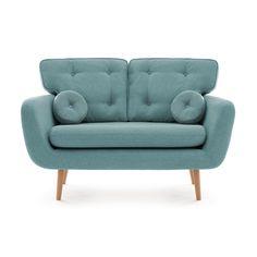 Canapea Fixa 2 locuri Malva Aqua sky #homedecor #interiordesign #inspiration Aqua, Love Seat, Couch, Furniture, Living, Home Decor, Inspiration, Biblical Inspiration, Water