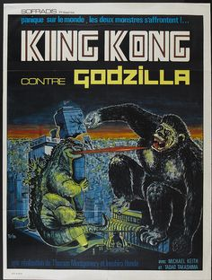 King Kong vs. Godzilla (Universal, 1963). French by Aeron Alfrey, via Flickr